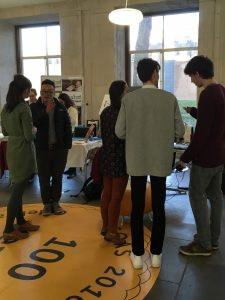 SOAS staff and visitors learn about Chouette Films' 360° film of Zoroastrian worship