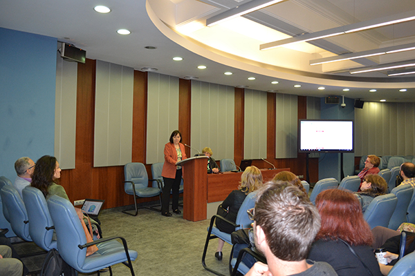Associate Professor Tsvetomira Pashova, Deputy Dean of the Faculty and the main organizer of the event, presented the speakers and chaired the event.