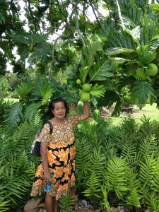 Sisma in her house garden, Koror, Palau, 2013 (photograph: Barbara W. Black)