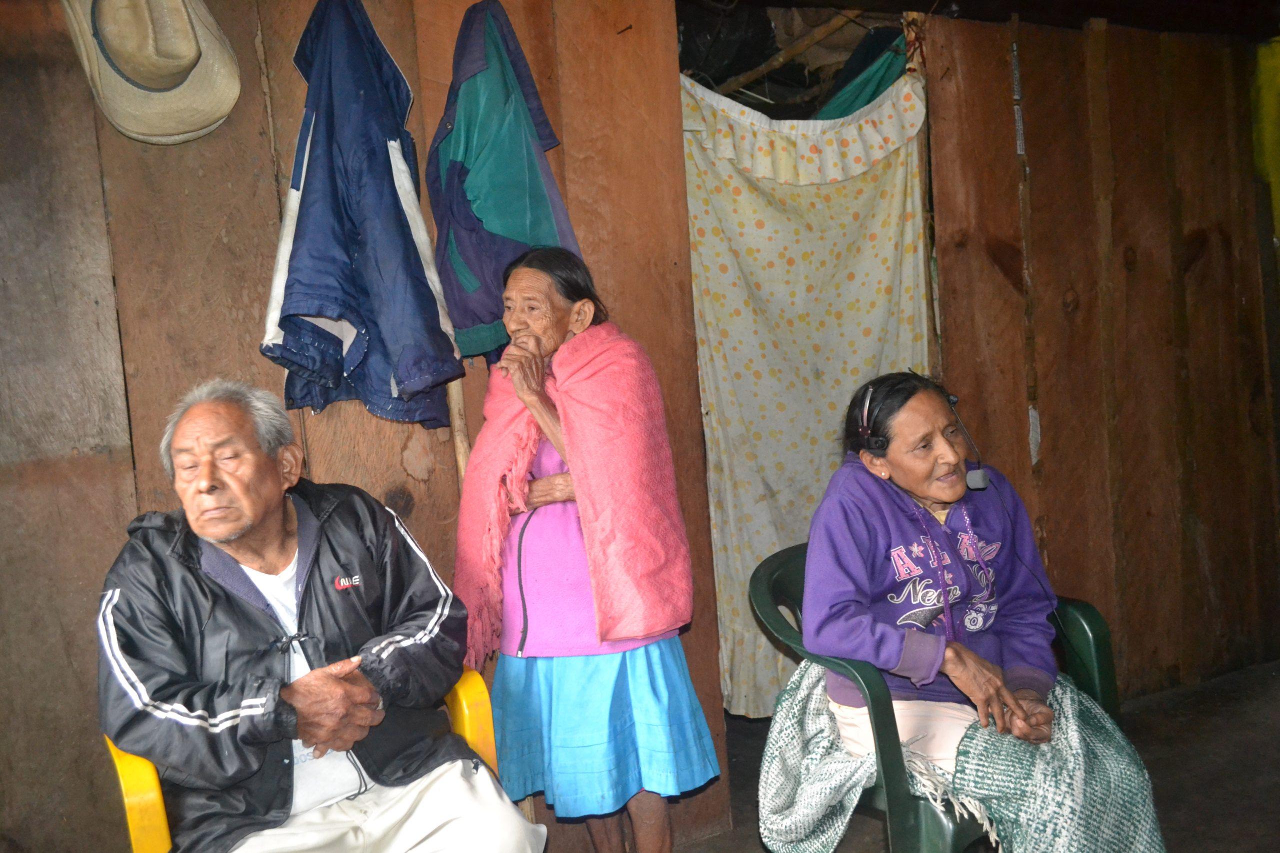 Three speakers of Zoque in Chiapas