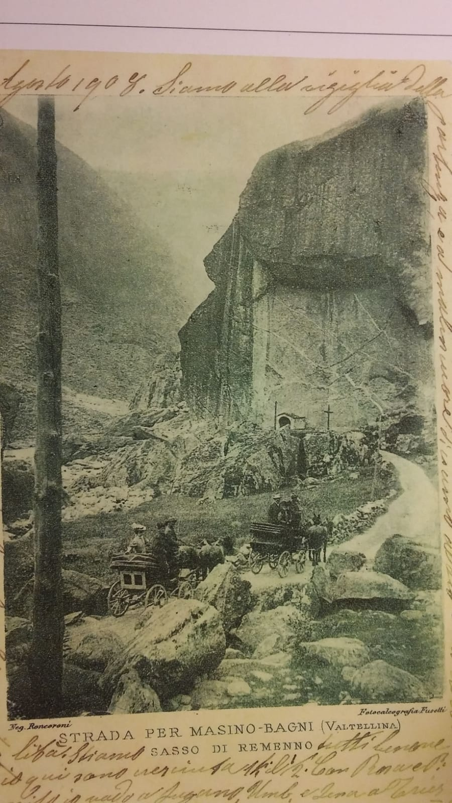 Postcard from Val Masino 1908