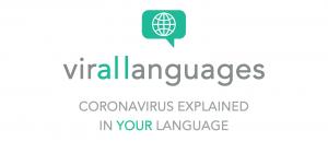 virallanguages coronavirus explained in your language, logo
