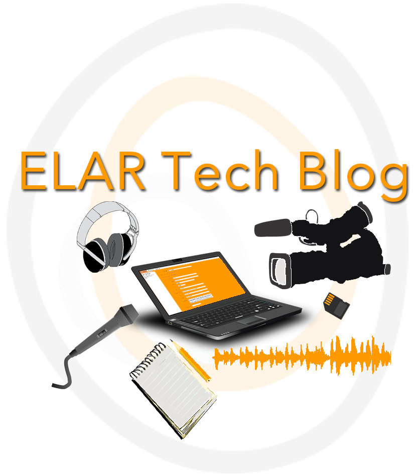 On the ELAR Tech Blog we share tips and tricks for language documenters, best practices for archiving and fieldwork, aswell as useful tools for metadata creation etc.